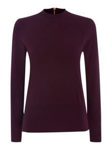 Zip detail turtle neck sweater