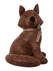Fox leather- look doorstop