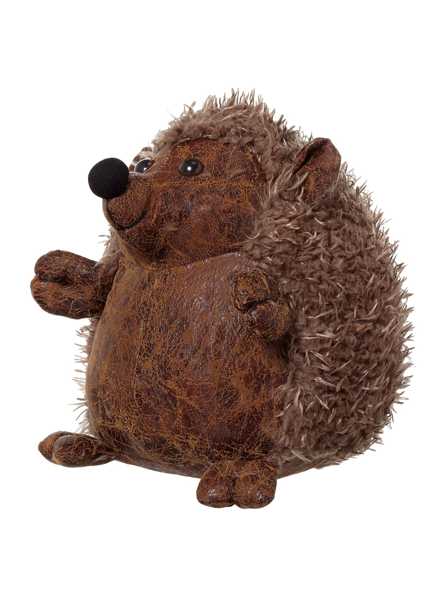 Hedgehog leather- look doorstop