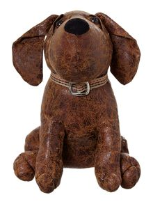 Linea Dog leather- look doorstop