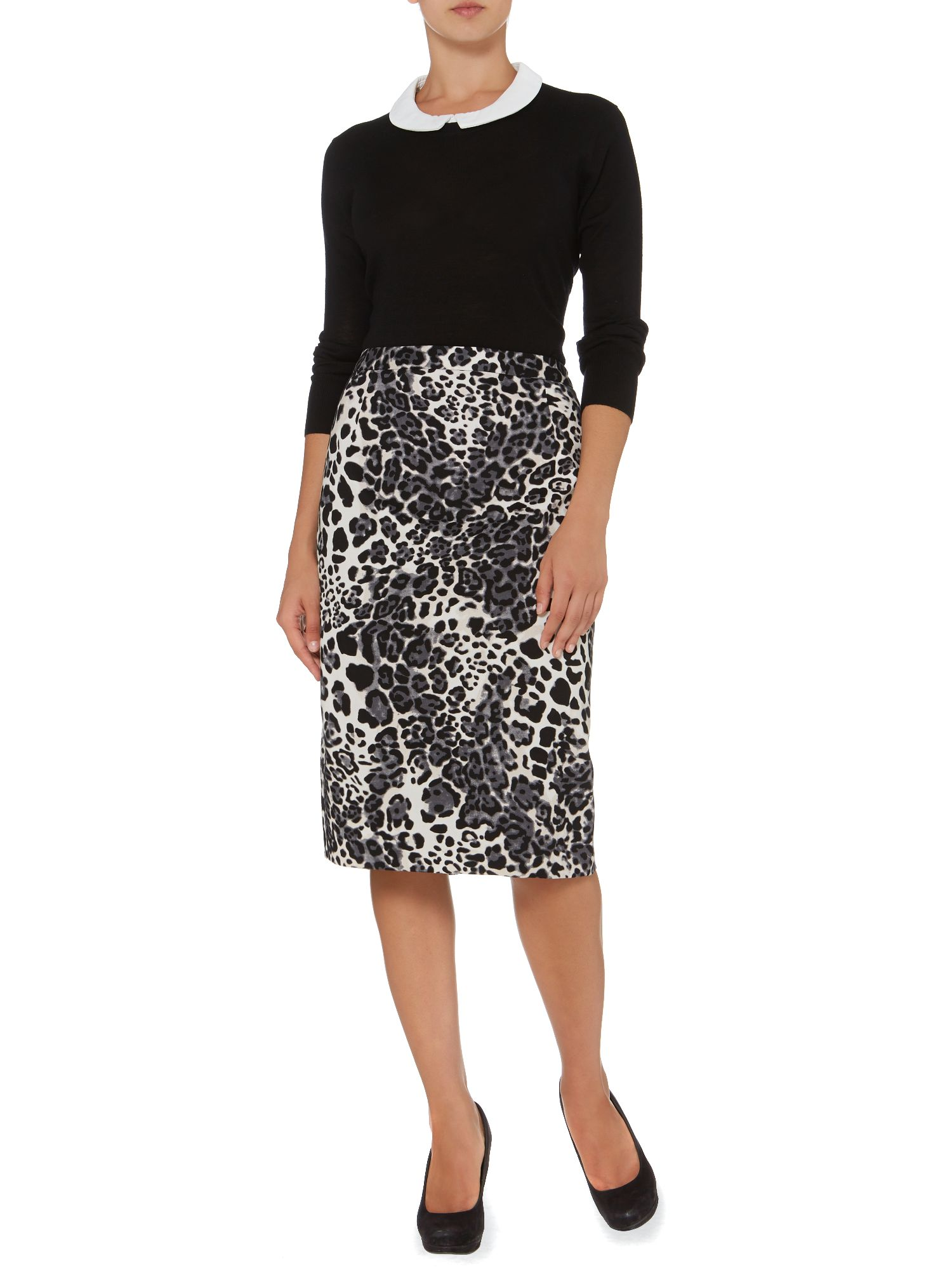 Animal printed skirt