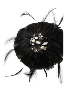 Feather corsage hairband