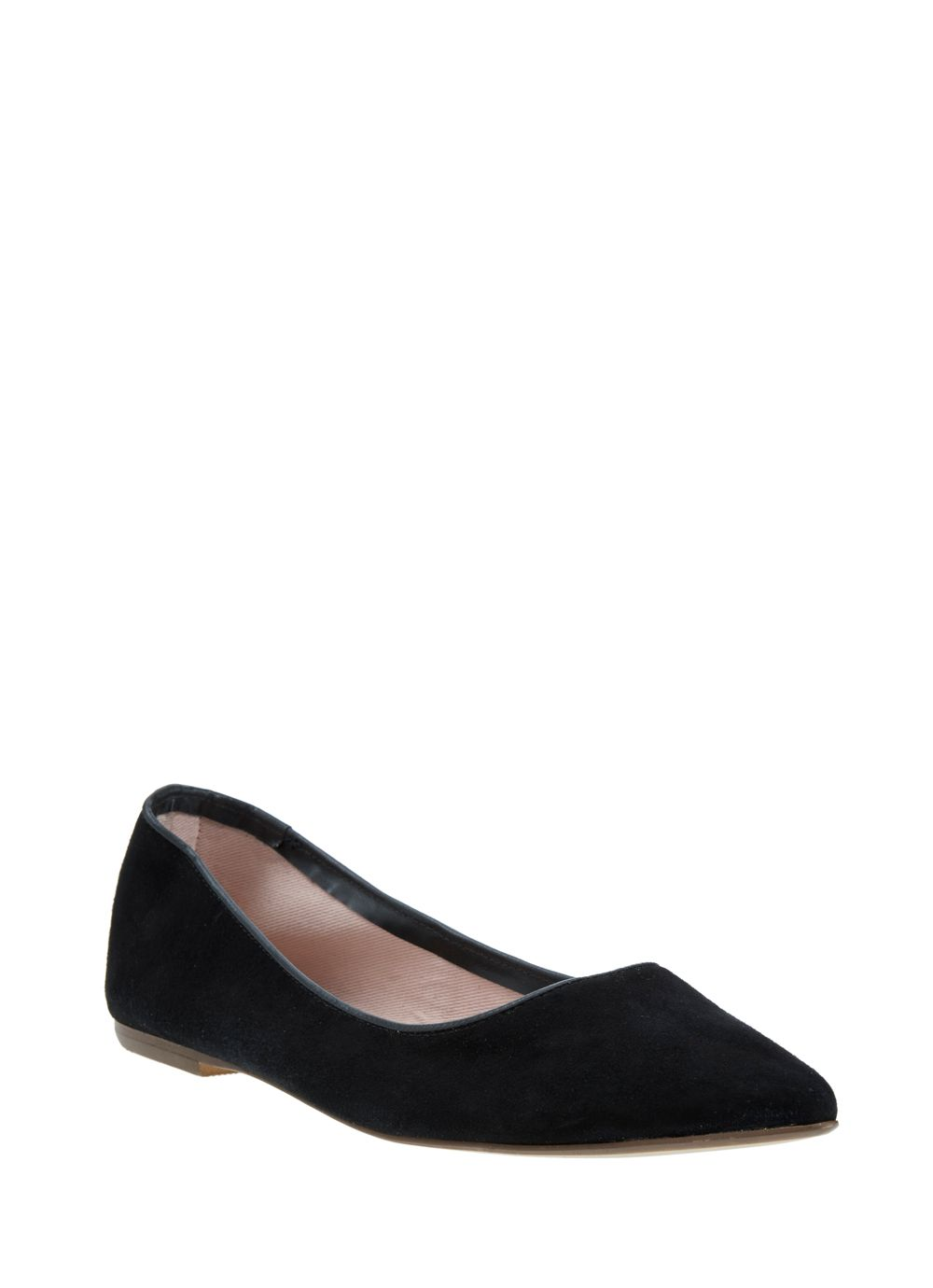 Black pixie suede pump
