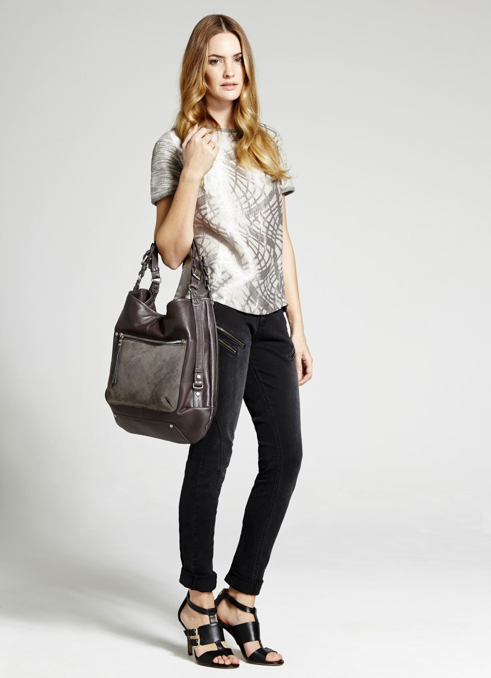 Grey paige hobo bag