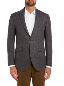 Herringbone regular fit jacket