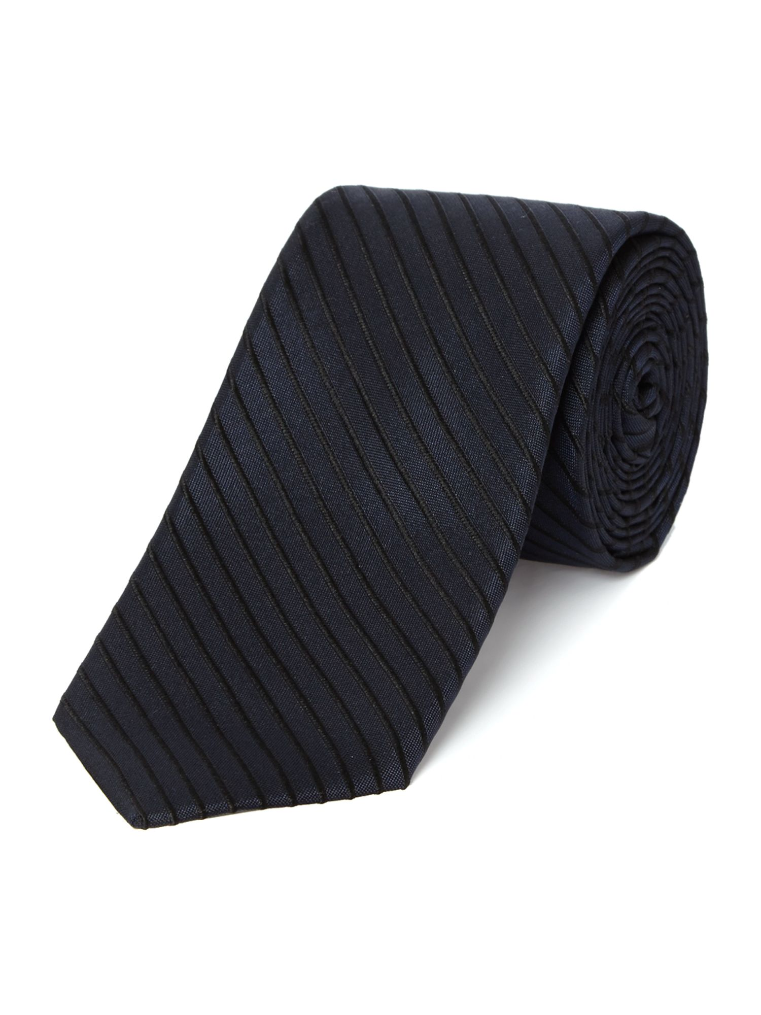 Agate satin stripe silk tie