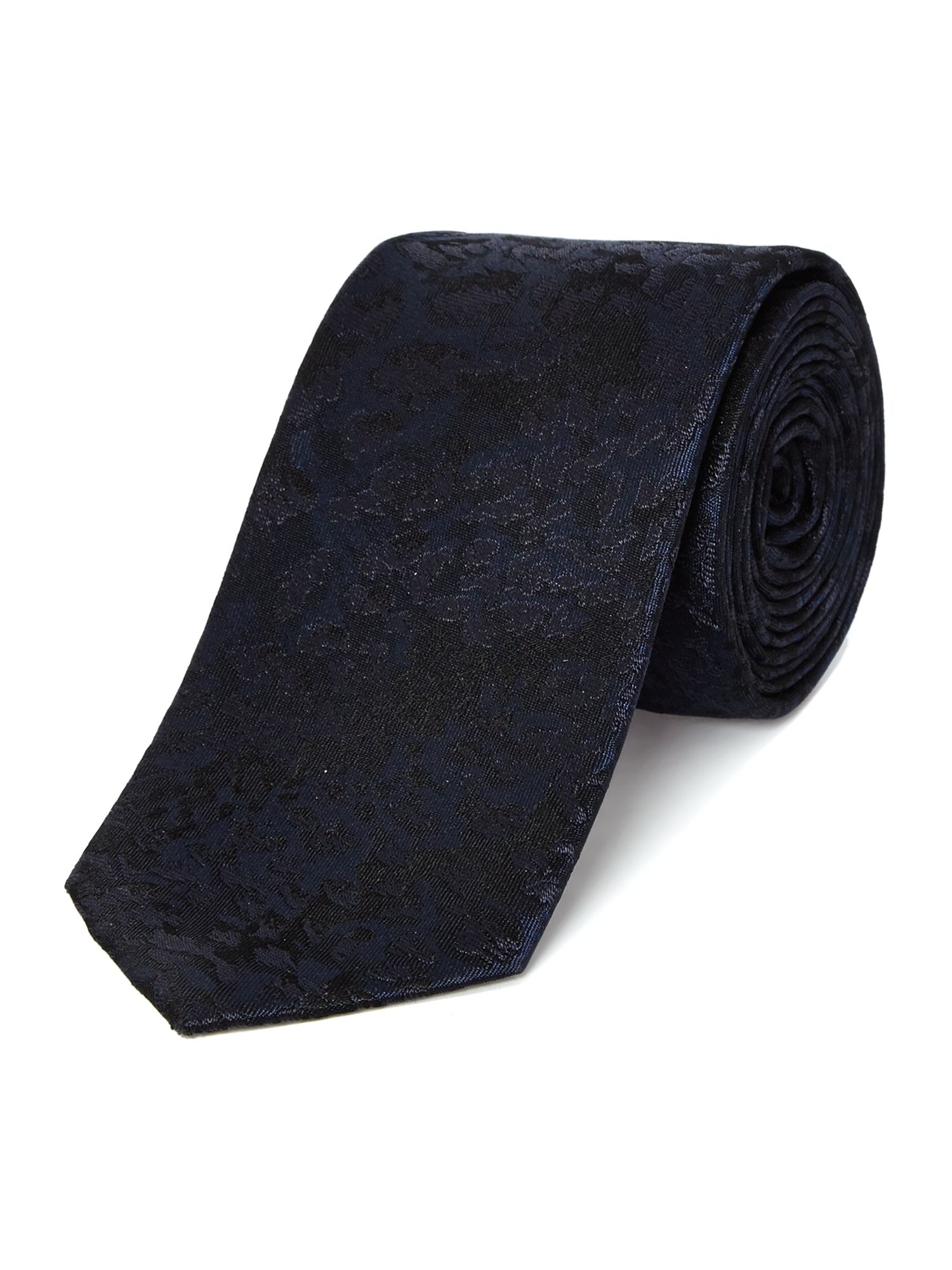 Classon animal jacquard silk tie