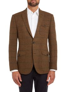 Houndstooth regular fit jacket