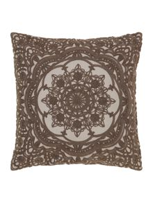 Grandeur embroidered cushion