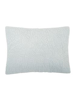 Bloom duck egg velvet cushion