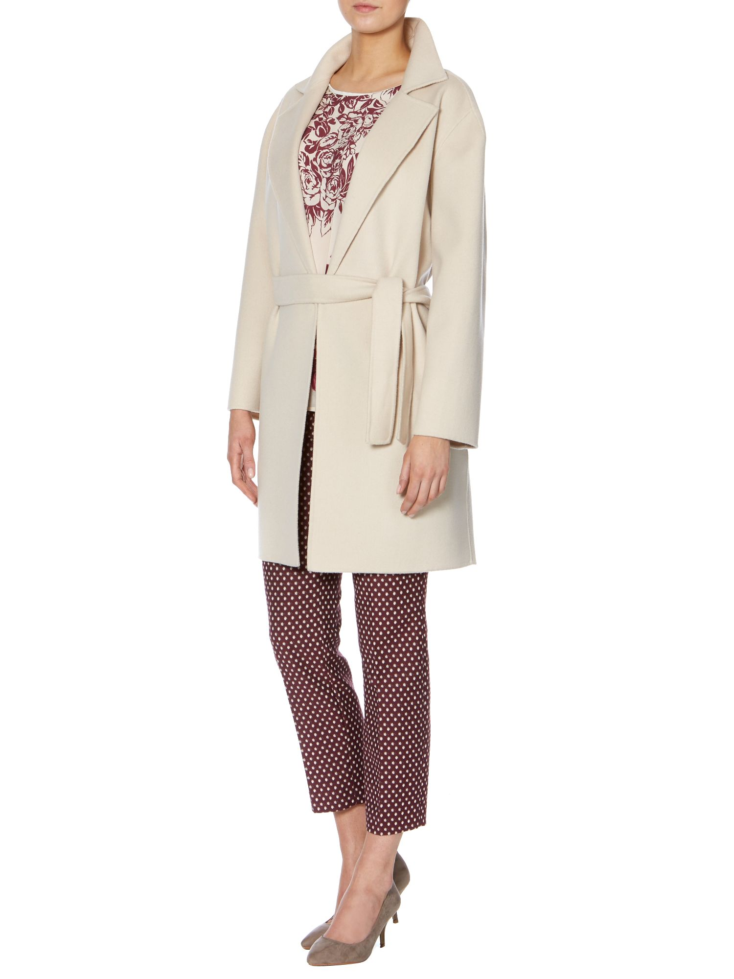 Giselda double faced wool belted coat