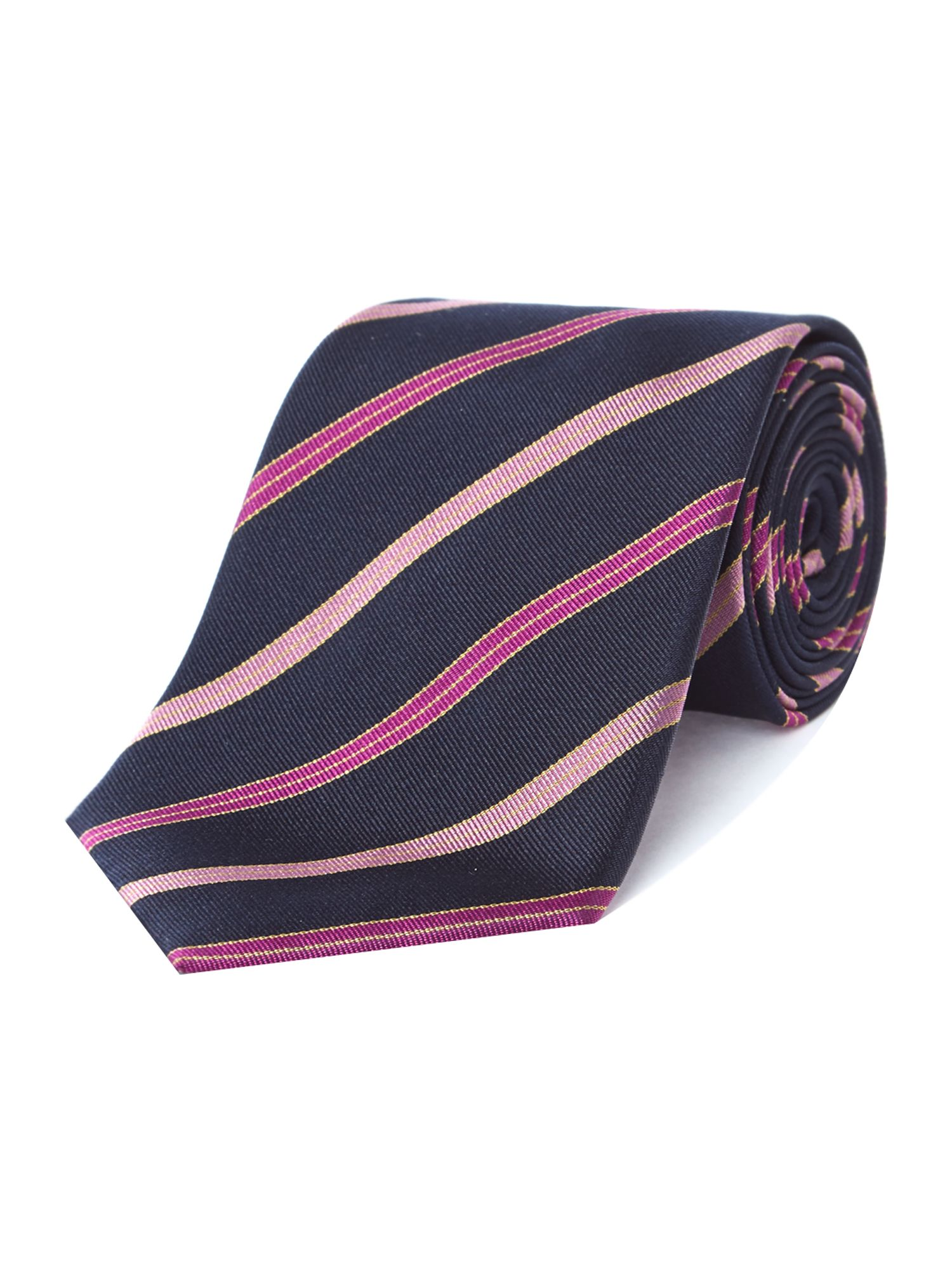 Deeping stripe rib silk tie