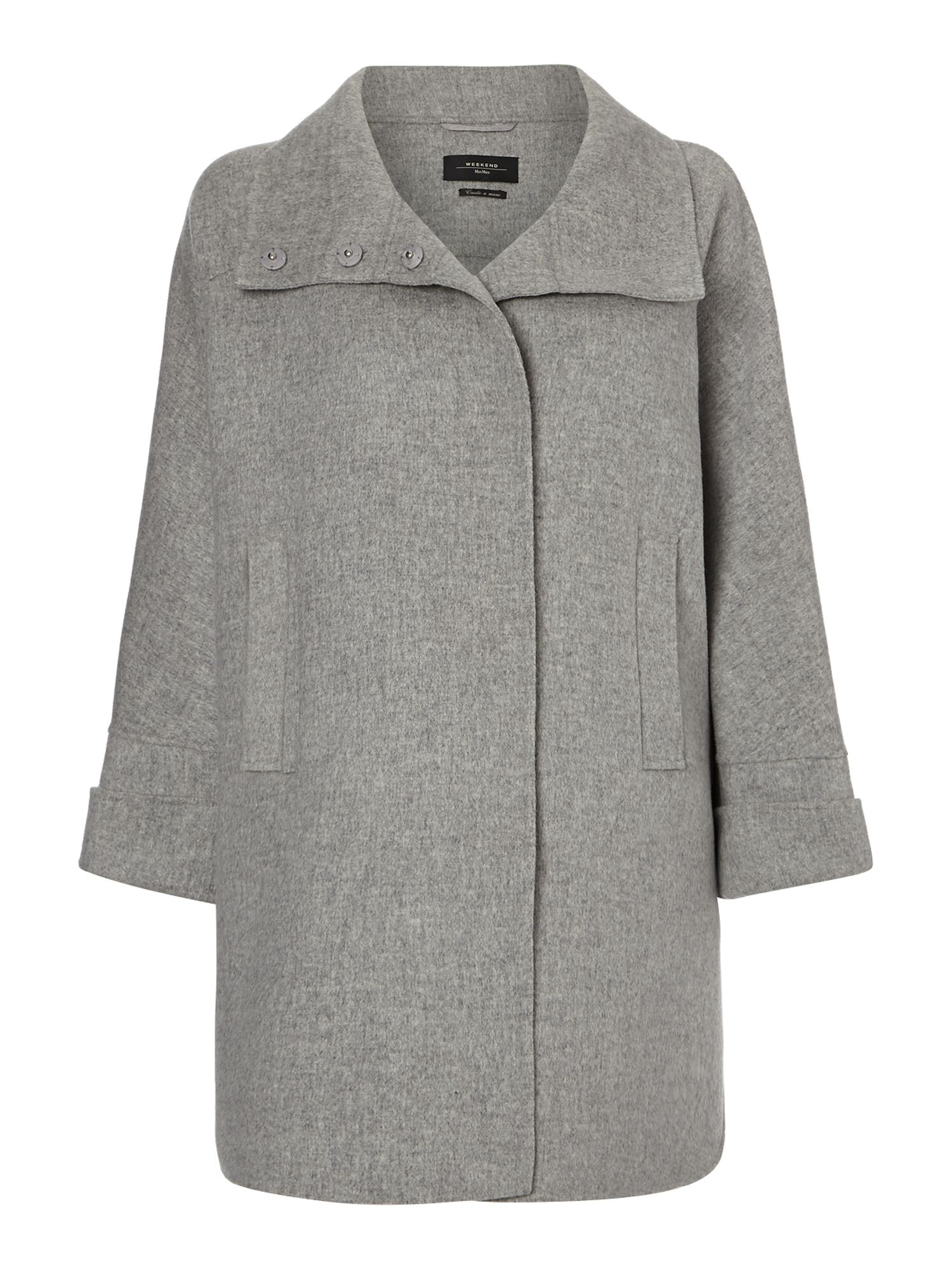 Beber double faced virgin wool coat