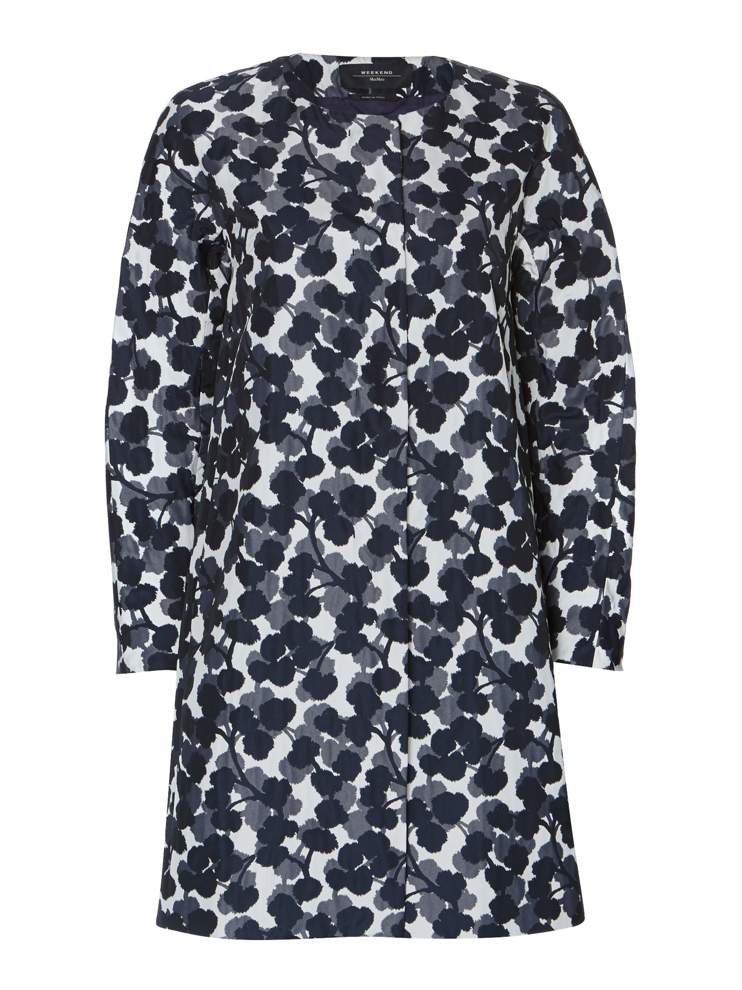 Affine duster printed coat