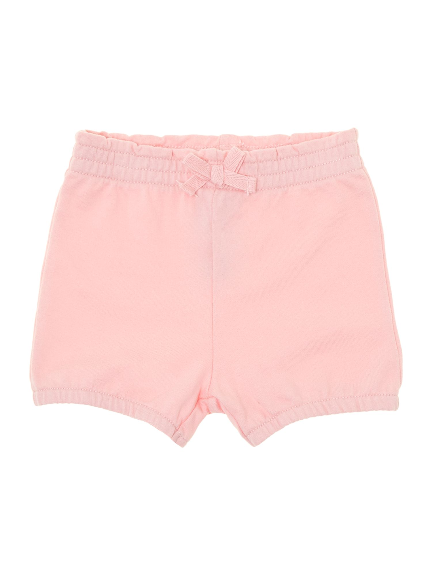 Girls jersey bow shorts