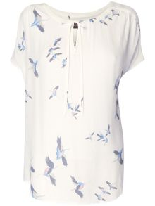 Cecile bird print blouse