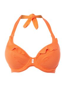 Cherish underwired banded halter bikini top