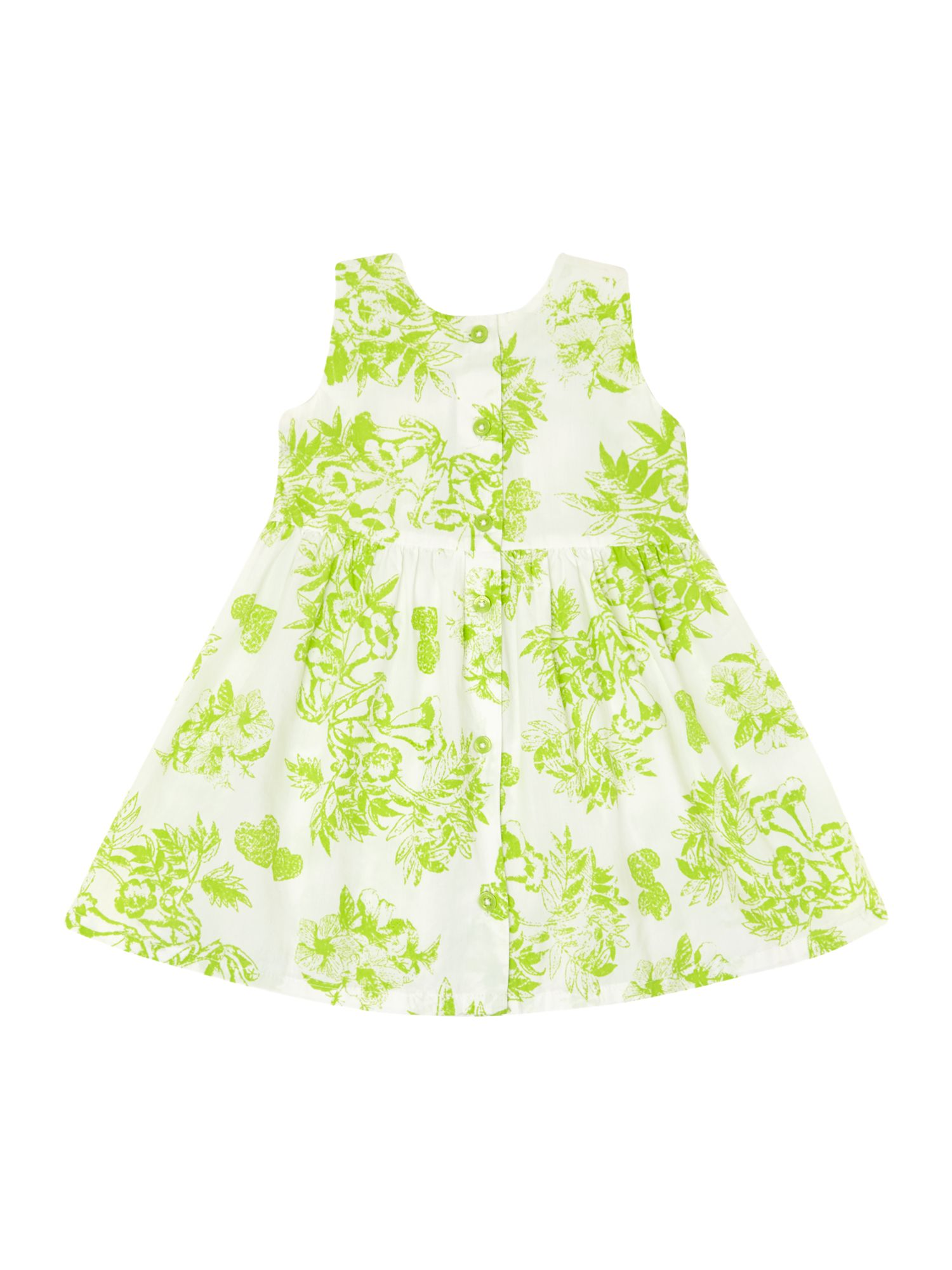 Girls dainty floral print dress