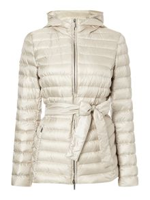 Acceso short padded coat with hood
