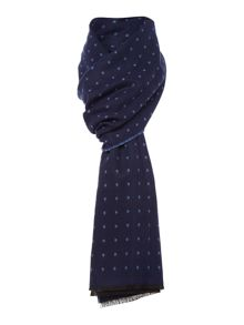 Soft touch reversible spotty scarf