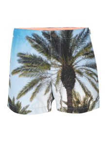 Photo palm print swim short