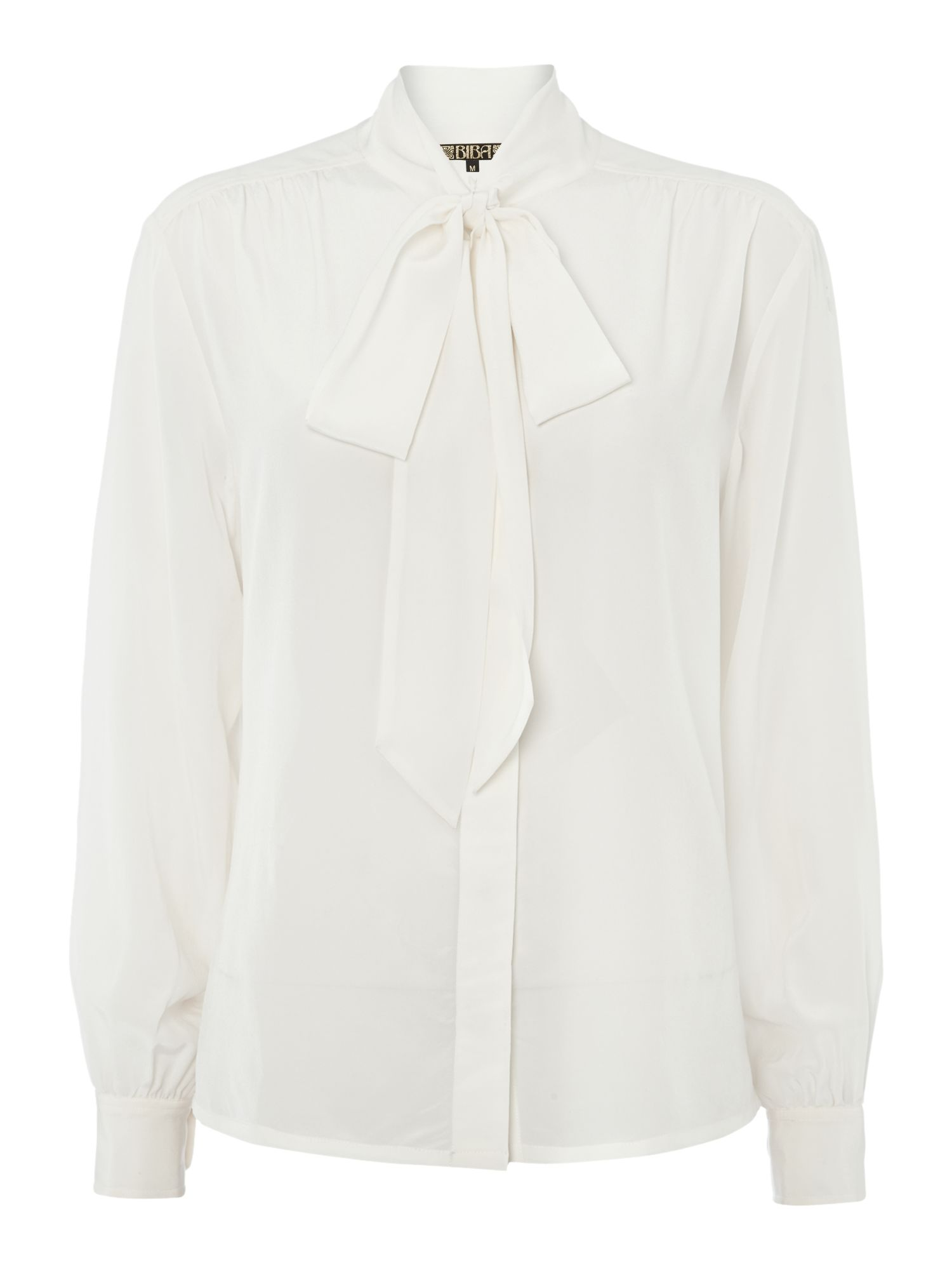 Silky pussybow blouse