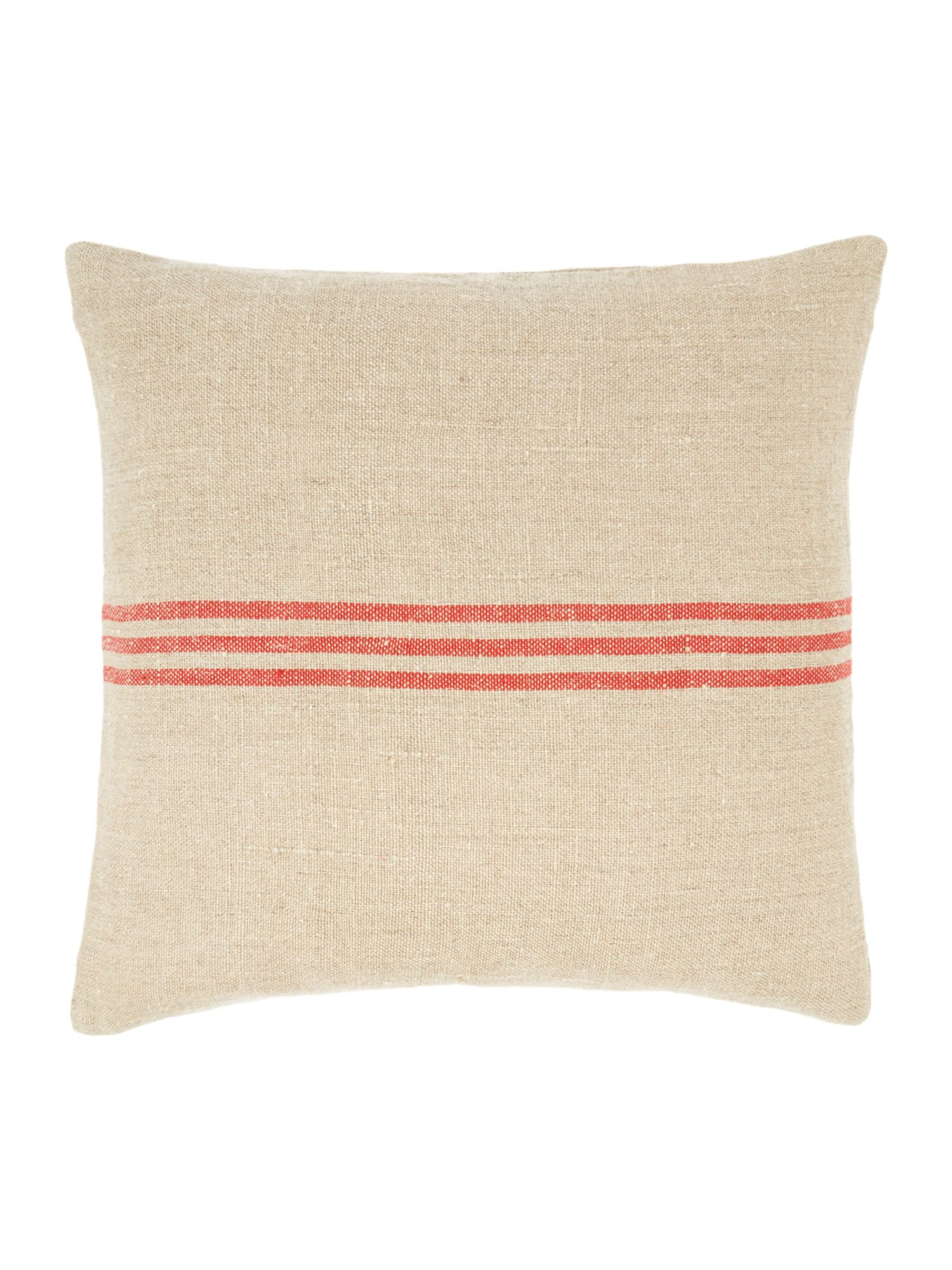 house of fraser linea linen stripe cushion red. Black Bedroom Furniture Sets. Home Design Ideas