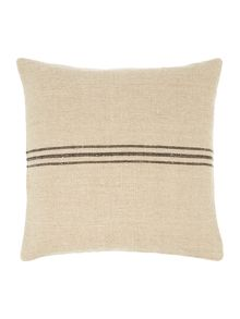 Linen stripe cushion, black
