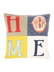 Home letters felt cushion, oversized