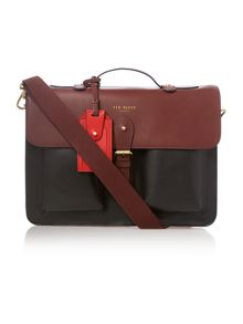 Colour block satchel bag