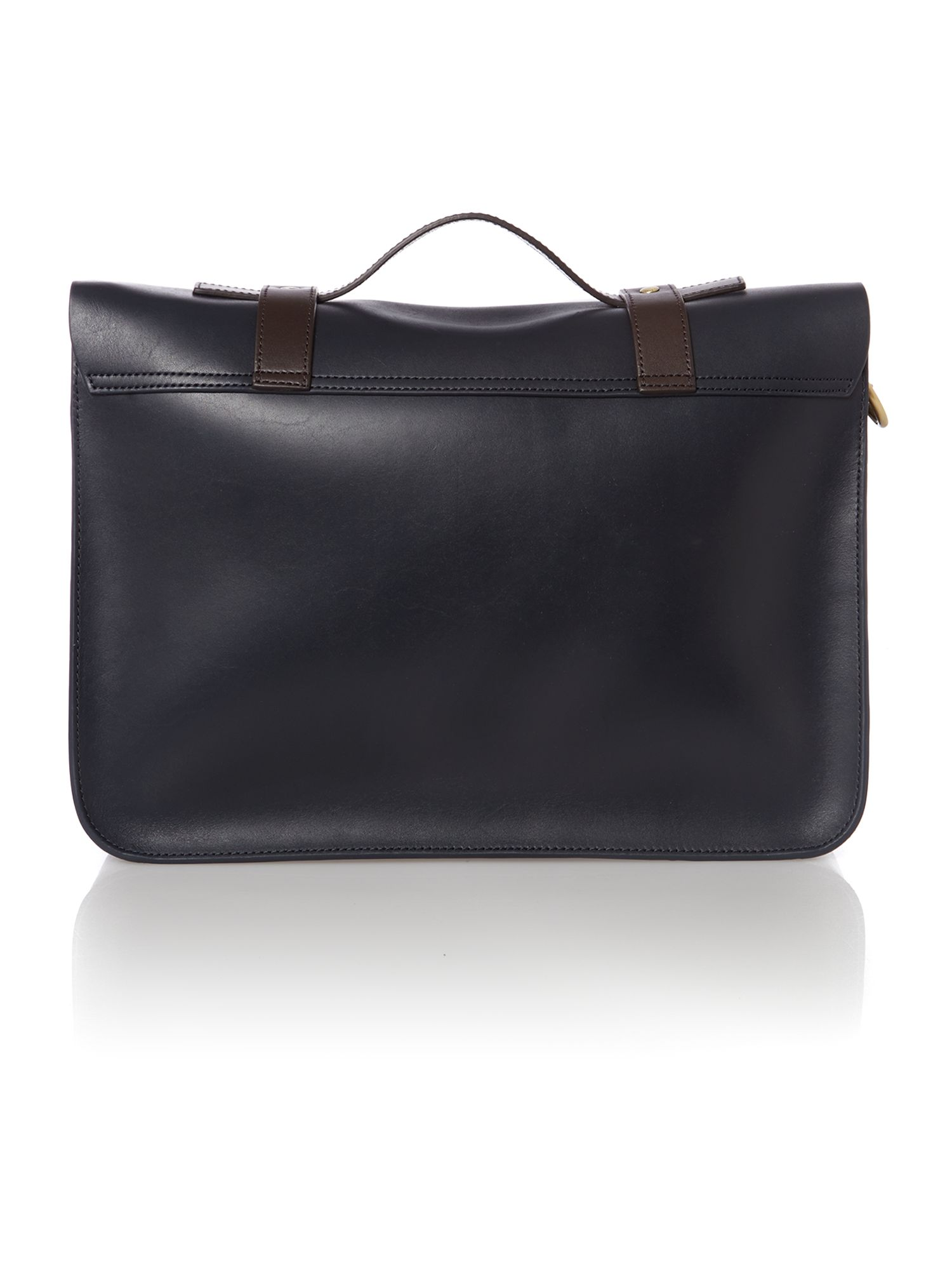 Leather satchel bag