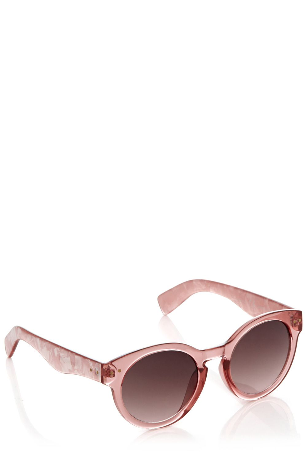 Round crystal frame sunglasses