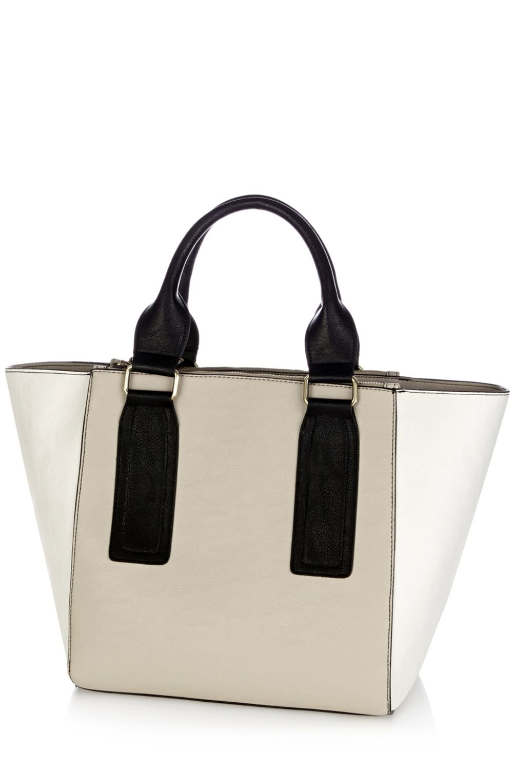 Colour block wide base bag
