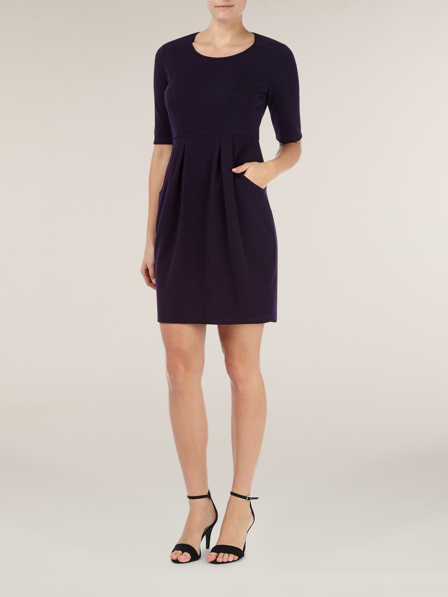 Purple panelled dress
