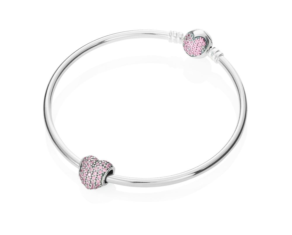 Sparkling Heart Bangle