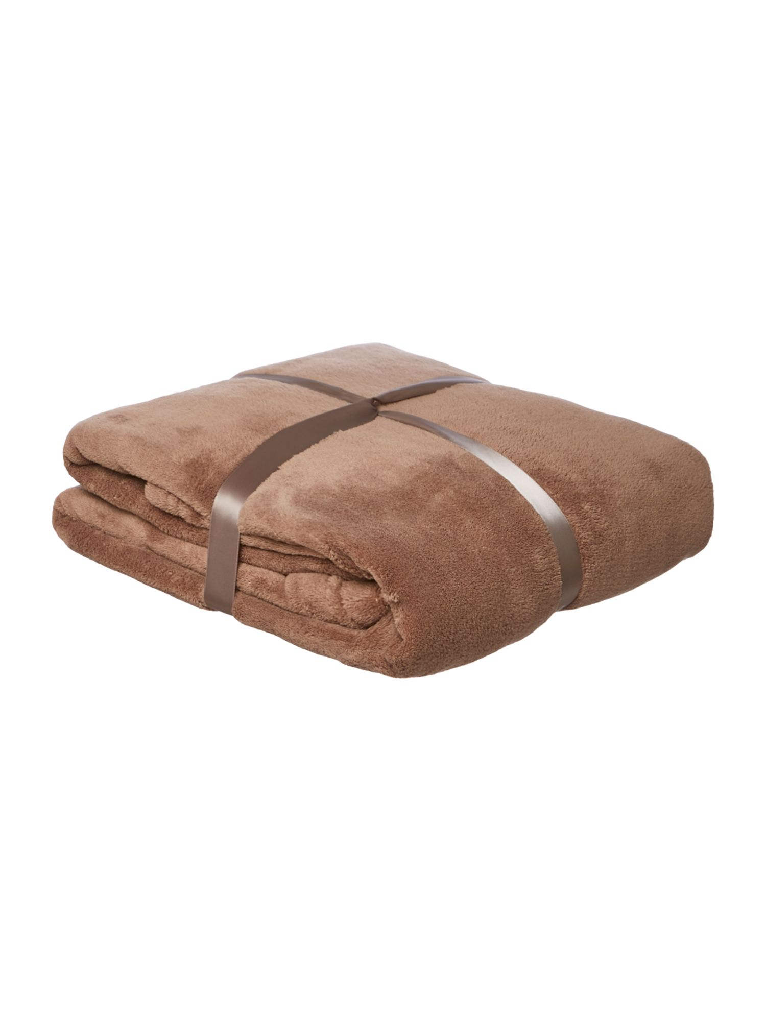 Beige fleece blanket