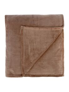 Linea Beige fleece blanket