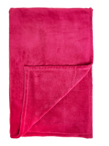 Linea Pink fleece blanket
