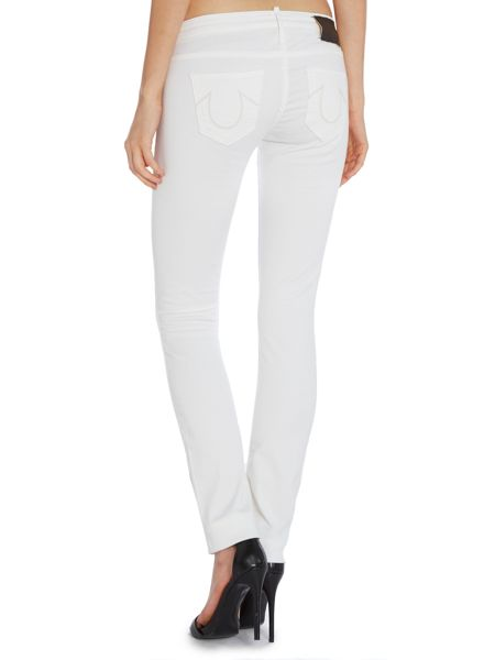 True Religion Jude skinny jeans in white shade