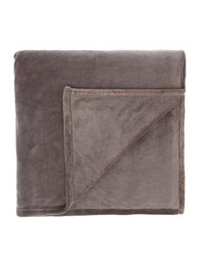Linea Slate fleece blanket