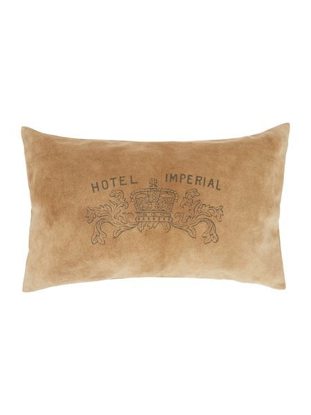 Linea Hotel Imperial leather and suede cushion