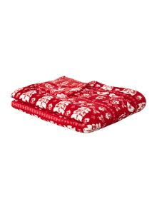 Red scandi blanket