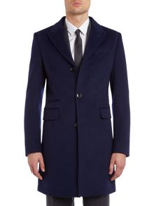 Kenneth Cole Harrison slim coat with peak lapel