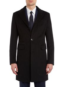 Harrison slim coat with peak lapel