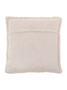 Corduroy fleece cushion grey