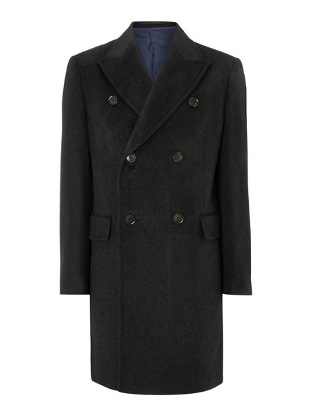 New & Lingwood Belton double breasted panel detail coat