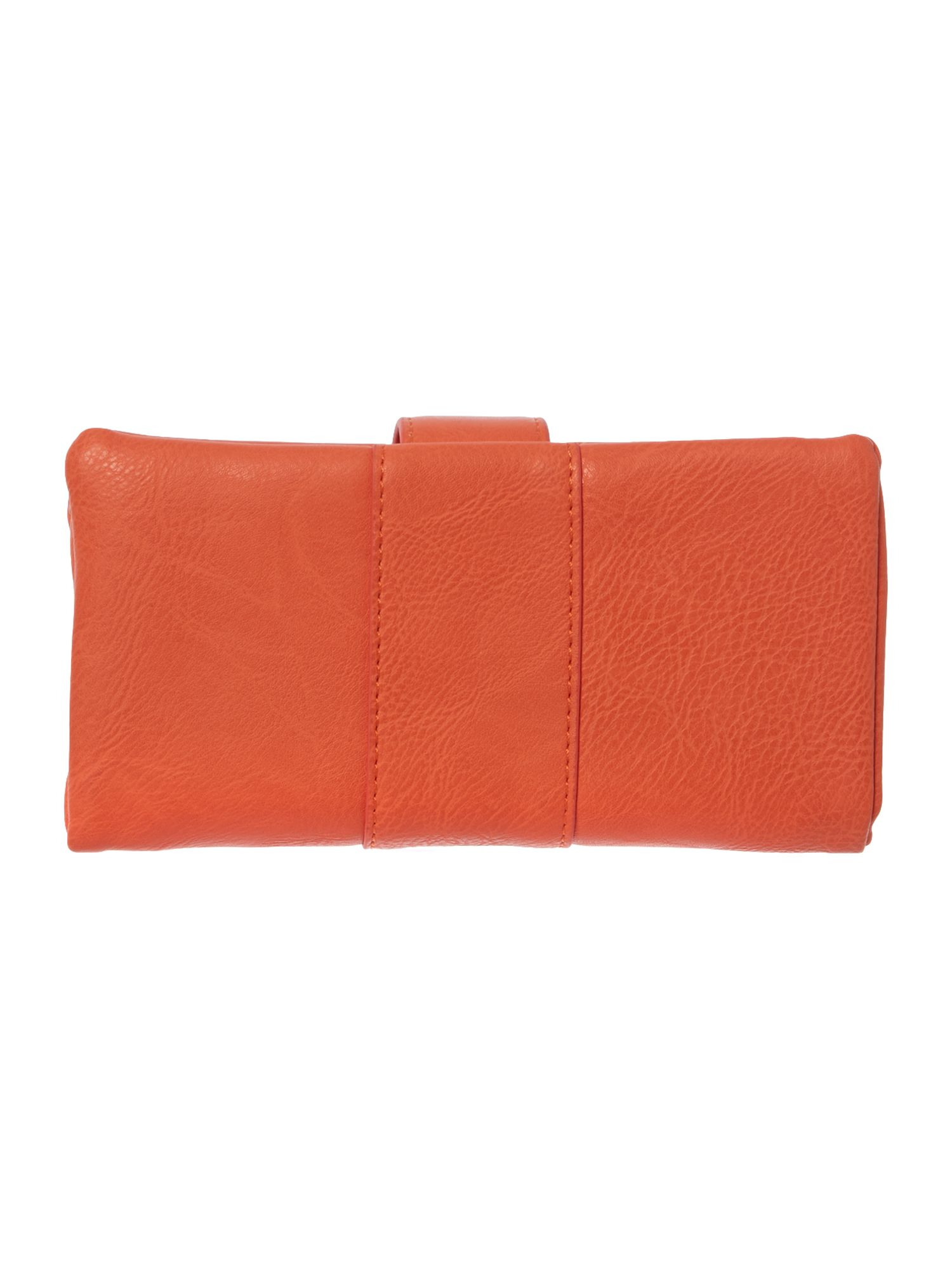 Orange large lock purse