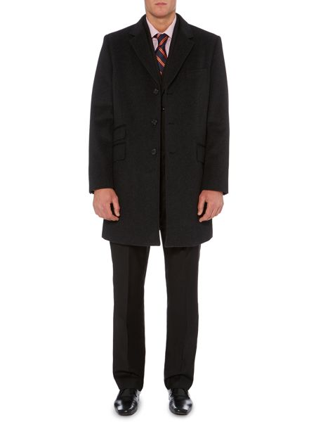 Howick Tailored Barden epsom coat with ticket pocket