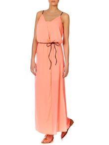 Strappy belted maxi dress