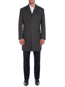 Pointon epsom coat with peak lapel
